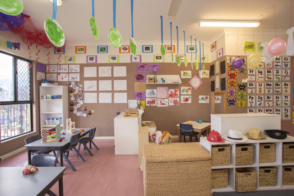 Colourful child care classroom at Early Learning Centre The Lakes